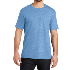 Mens Perfect Weight Crew Tee -  Clean Denim - Front