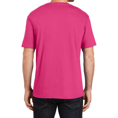 Mens Perfect Weight Crew Tee - Dark Fuchsia - Back