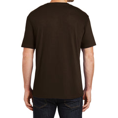 Mens Perfect Weight Crew Tee - Espresso - Back