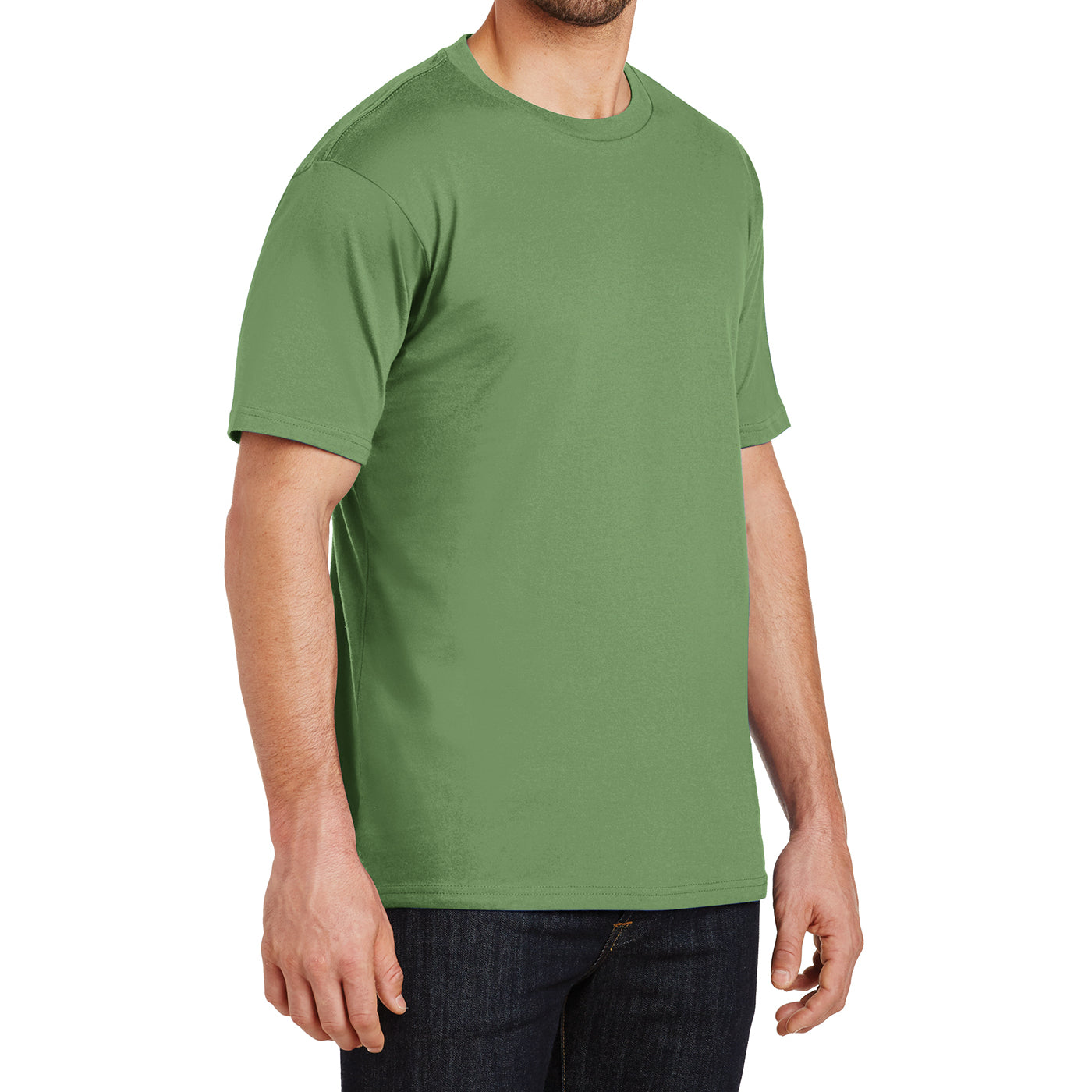 Mens Perfect Weight Crew Tee - Fresh Fatigue - Side