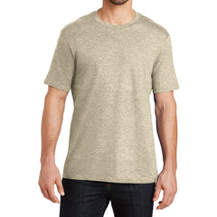 Mens Perfect Weight Crew Tee -  Heathered Latte - Front