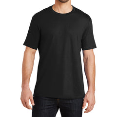 Mens Perfect Weight Crew Tee -  Jet Black - Front
