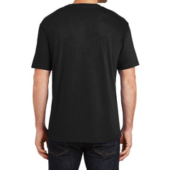 Mens Perfect Weight Crew Tee - Jet Black - Back