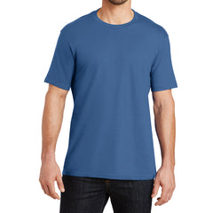Mens Perfect Weight Crew Tee - Maritime Blue - Front