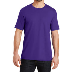Mens Perfect Weight Crew Tee - Purple - Front