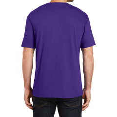 Mens Perfect Weight Crew Tee - Purple - Back