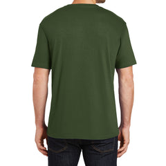Mens Perfect Weight Crew Tee - Thyme Green - Back