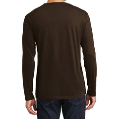 Mens Perfect Weight Long Sleeve Tee - Espresso - Back