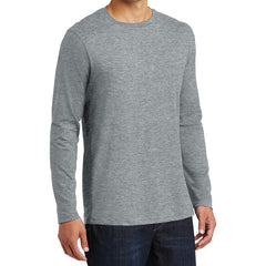 Mens Perfect Weight Long Sleeve Tee - Heathered Steel - Side