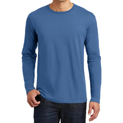 Mens Perfect Weight Long Sleeve Tee - Maritime Blue - Front