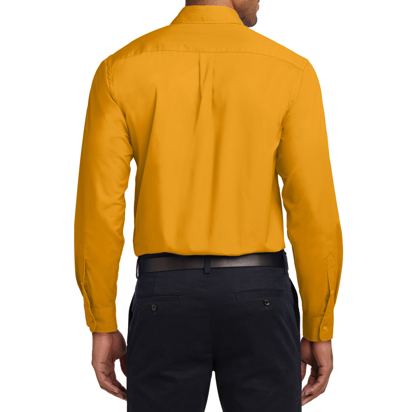 Men's Long Sleeve Easy Care Shirt - Athletic Gold/ Light Stone - Back