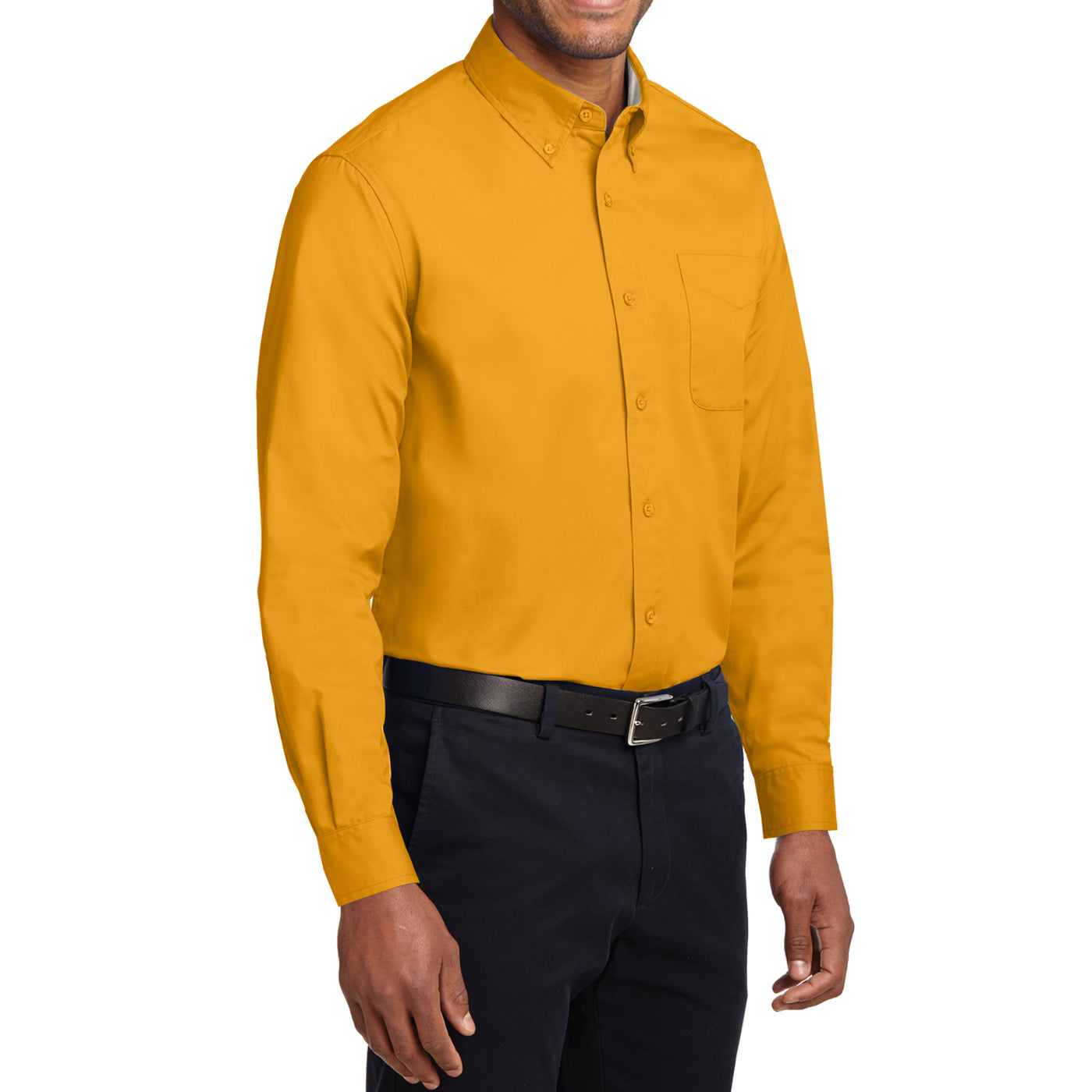 Men's Long Sleeve Easy Care Shirt - Athletic Gold/ Light Stone - Side