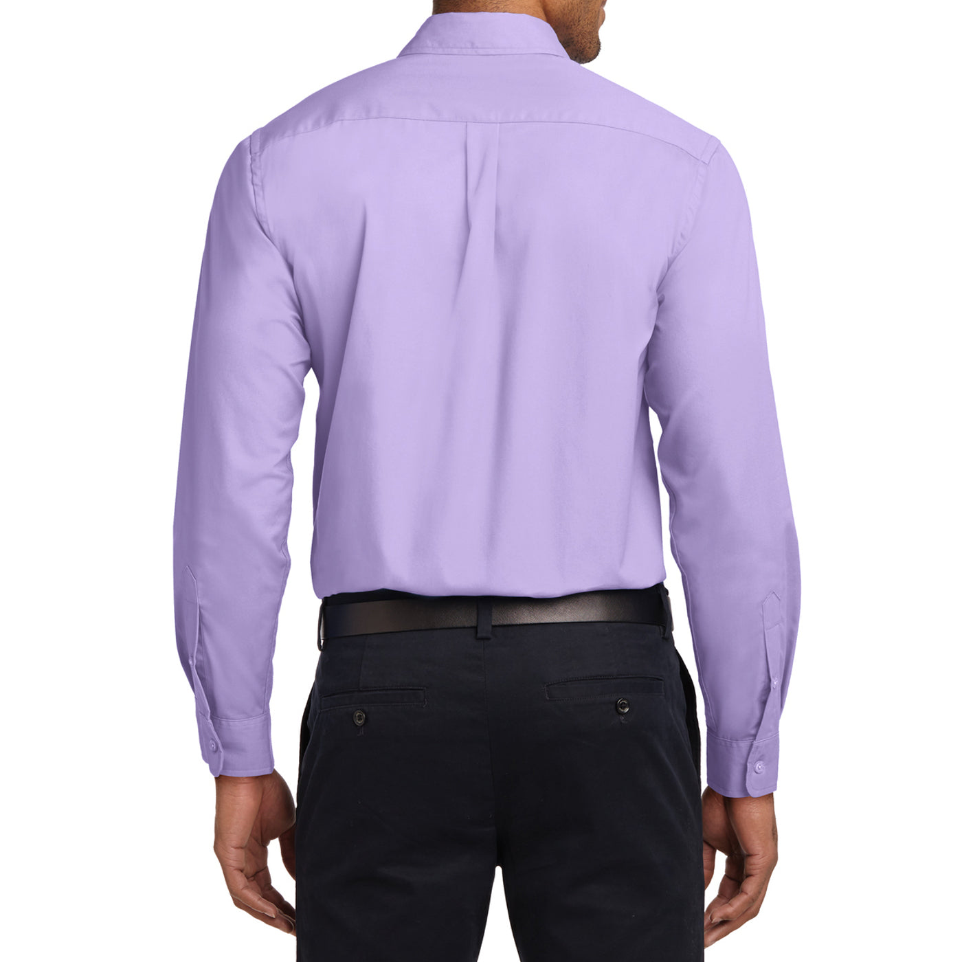 Men's Long Sleeve Easy Care Shirt - Bright Lavender - Back