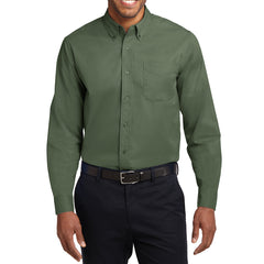 Men's Long Sleeve Easy Care Shirt - Clover Green - Front