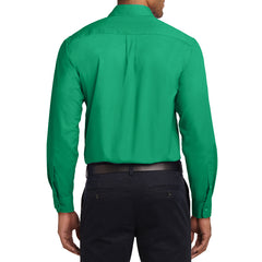 Men's Long Sleeve Easy Care Shirt - Court Green - Back