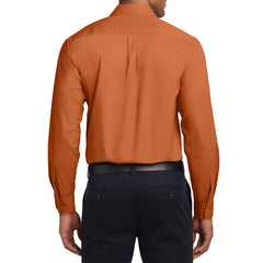 Men's Long Sleeve Easy Care Shirt - Texas Orange/ Light Stone - Back