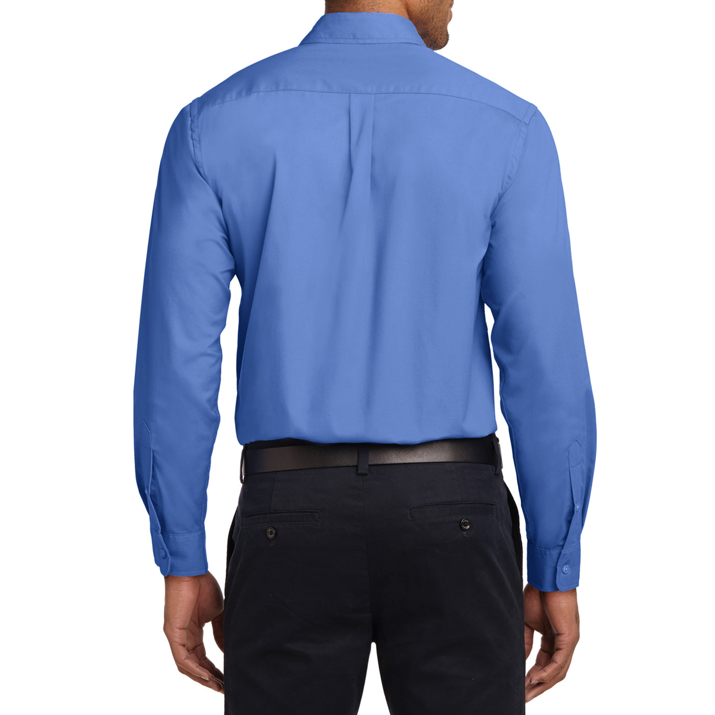 Men's Long Sleeve Easy Care Shirt - Ultramarine Blue - Back