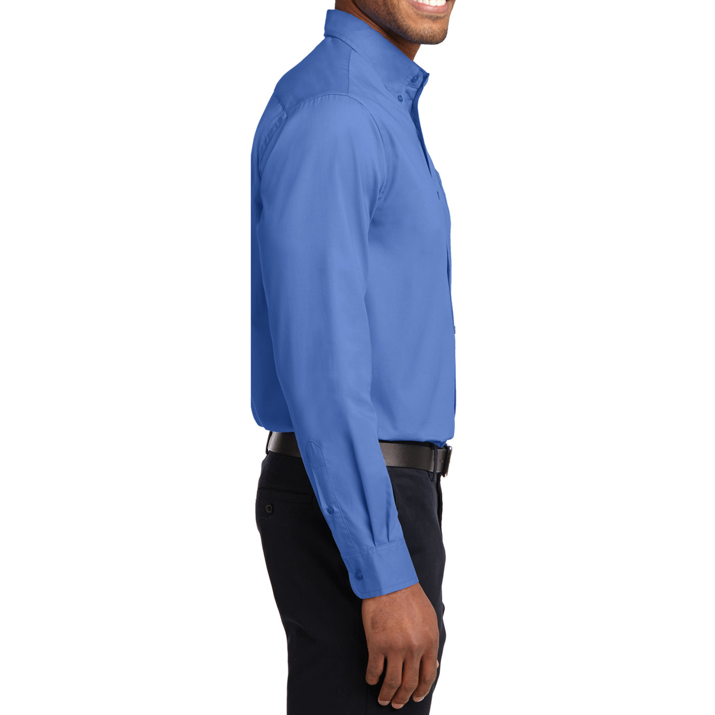 Men's Long Sleeve Easy Care Shirt - Ultramarine Blue - Side