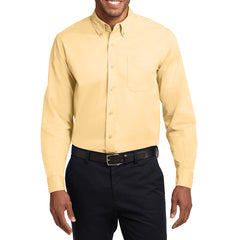 Men's Long Sleeve Easy Care Shirt - Yellow - Front