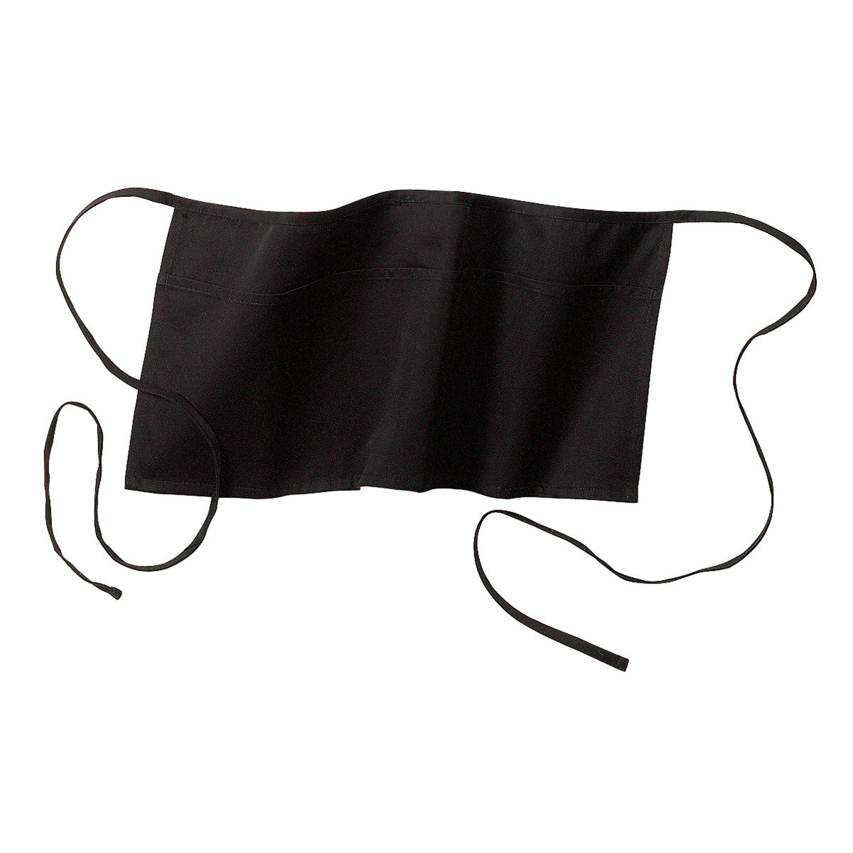 Waist Apron with Pockets Black