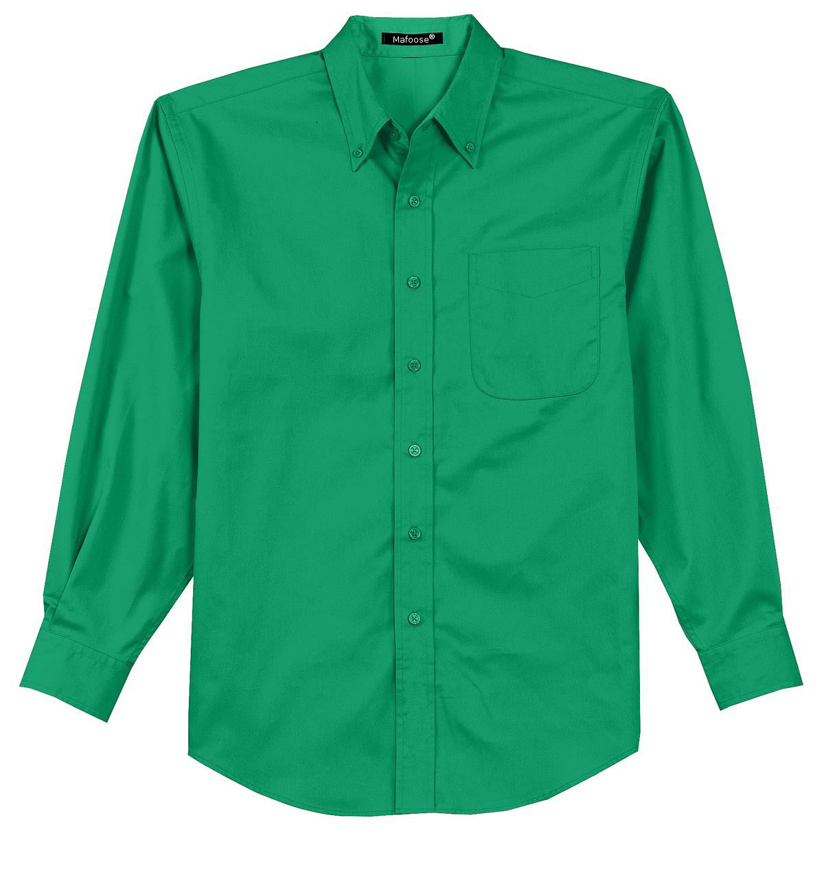 Mafoose Men's Tall Long Sleeve Easy Care Shirt Court Green-Front