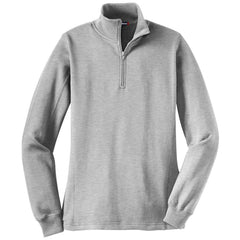 Mafoose Women's 1/4 Zip Sweatshirt Athletic Heather-Front