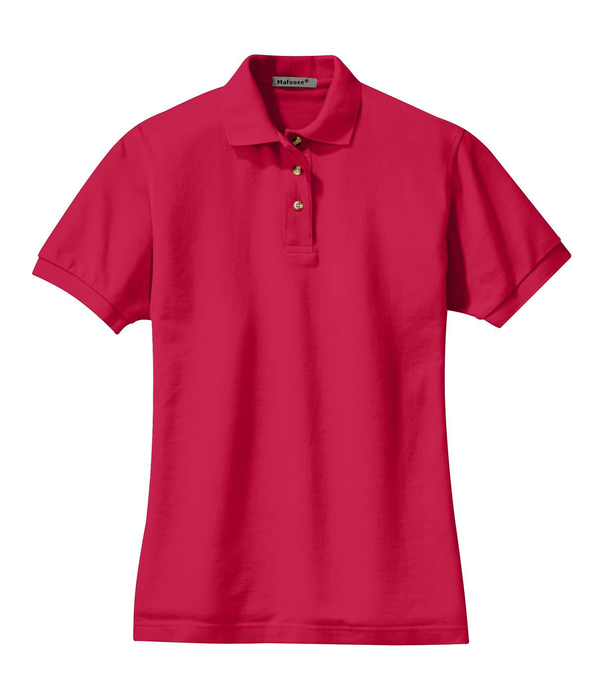 Mafoose Women's Heavyweight Cotton Pique Polo Shirt Red-Front
