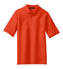 Mafoose Men's Silk Touch Polo with Pocket Orange-Front