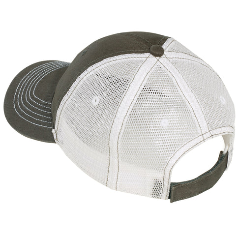 Men's Mesh Back Cap-Army/ White
