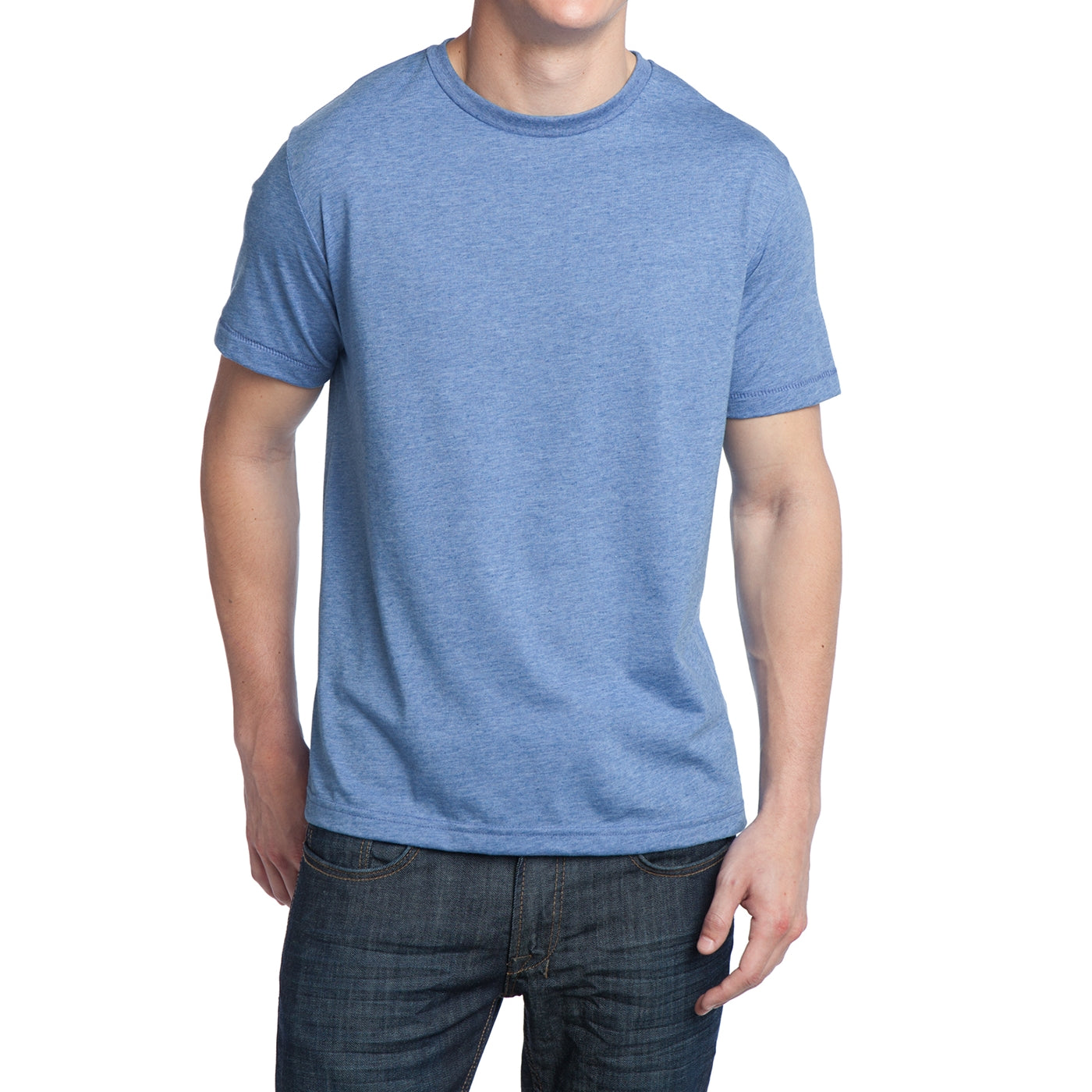 Men's Young Tri-Blend Crewneck Tee - Maritime Heather