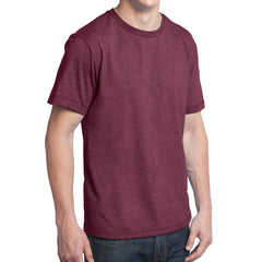 Men's Young Tri-Blend Crewneck Tee - Maroon Heather