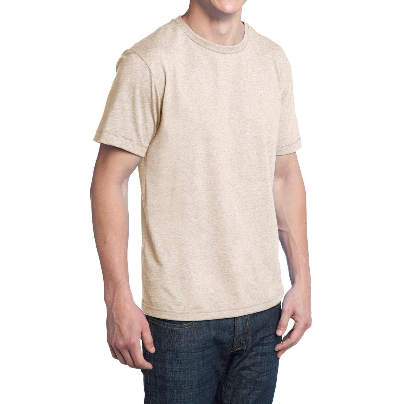 Men's Young Tri-Blend Crewneck Tee - Natural Heather