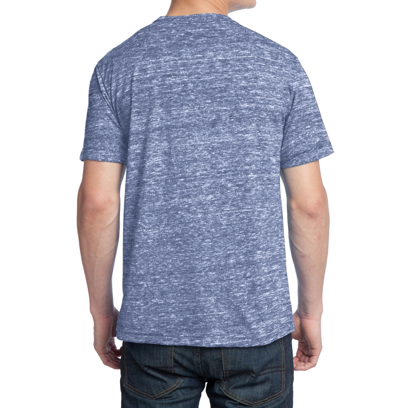 Men's Young Tri-Blend Crewneck Tee - Navy Heather