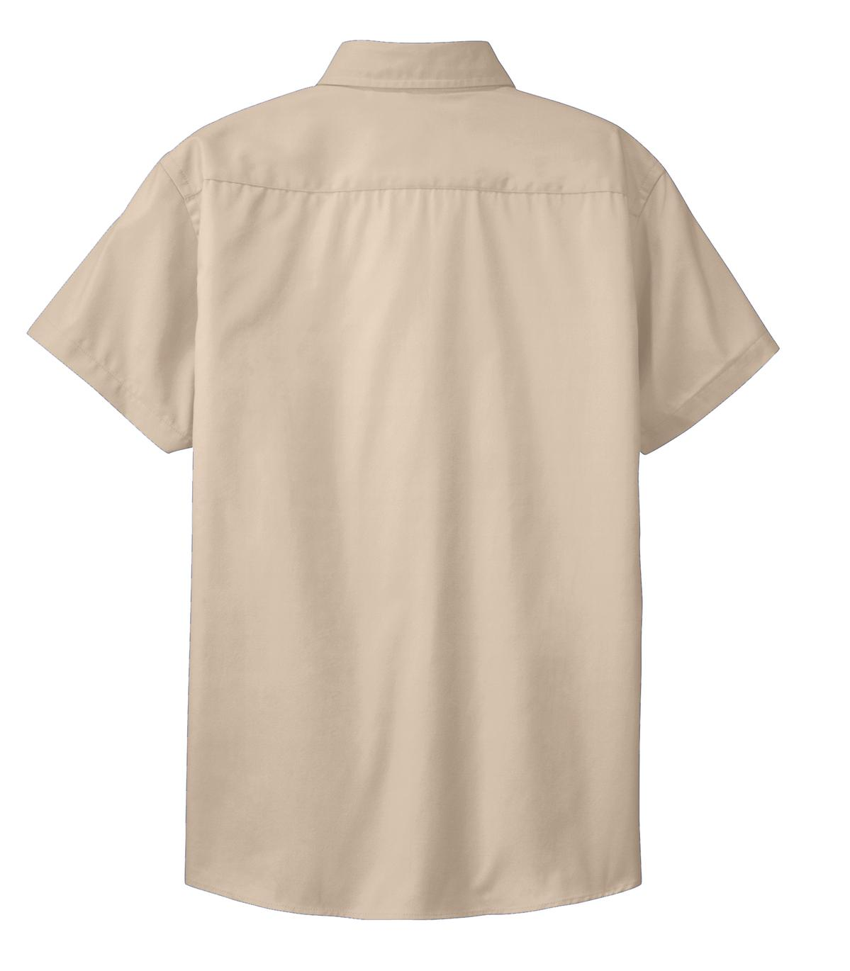 Mafoose Women's Comfortable Short Sleeve Easy Care Shirt Stone-Back
