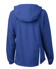 Mafoose Women's Colorblock Hooded Raglan Jacket True Royal/White-Back