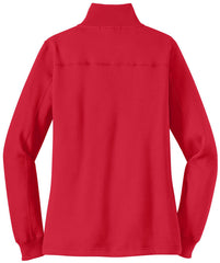 Mafoose Women's 1/4 Zip Sweatshirt True Red-Back