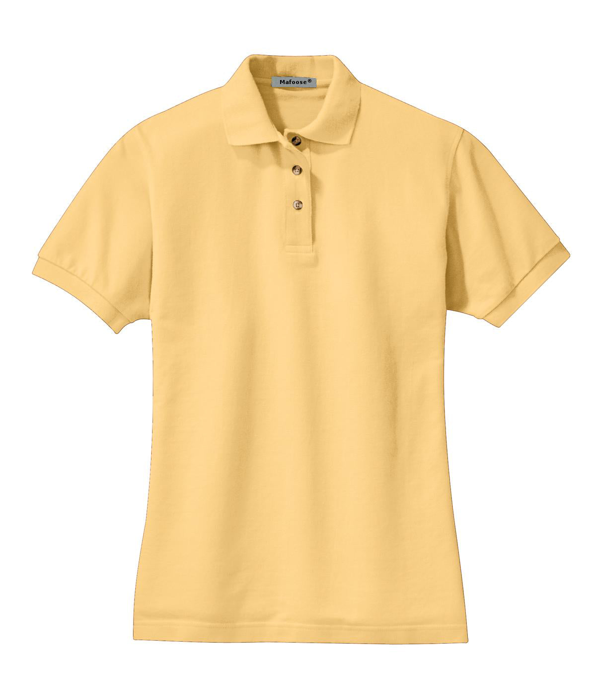 Mafoose Women's Heavyweight Cotton Pique Polo Shirt Yellow-Front