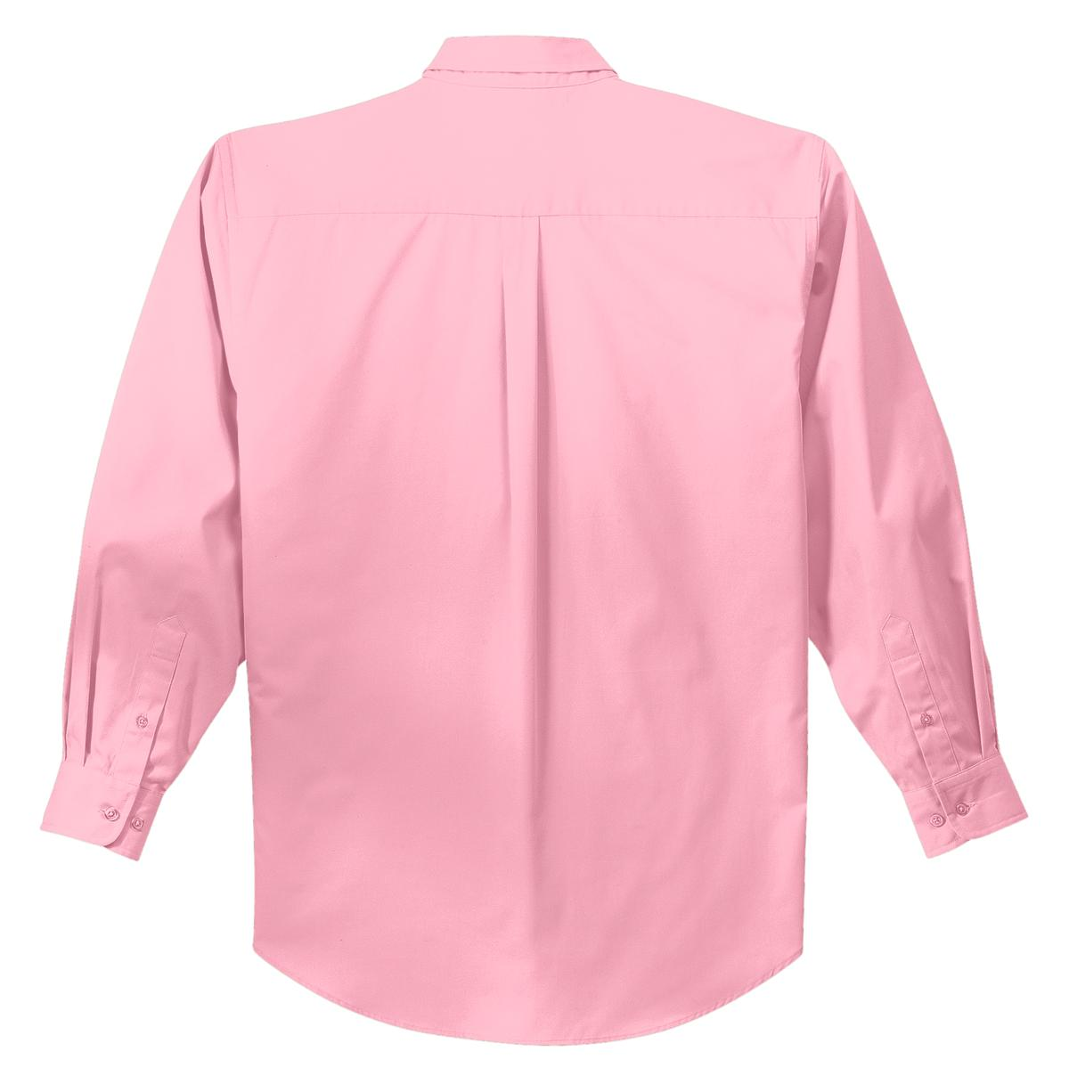Mafoose Men's Tall Long Sleeve Easy Care Shirt Light Pink-Back