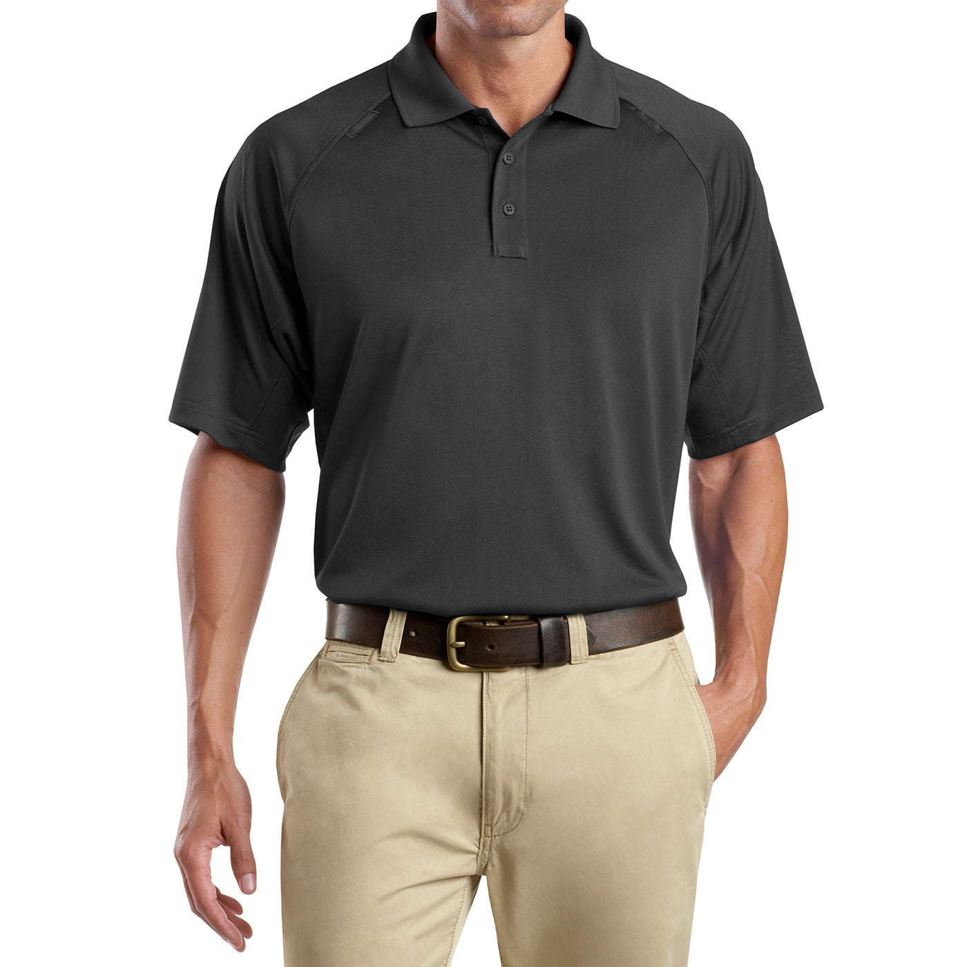 Men's Snag-Proof Tactical Polo Shirt - Charcoal - Front