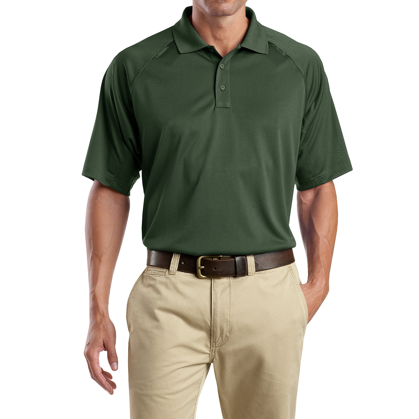 Men's Snag-Proof Tactical Polo Shirt - Dark Green - Front
