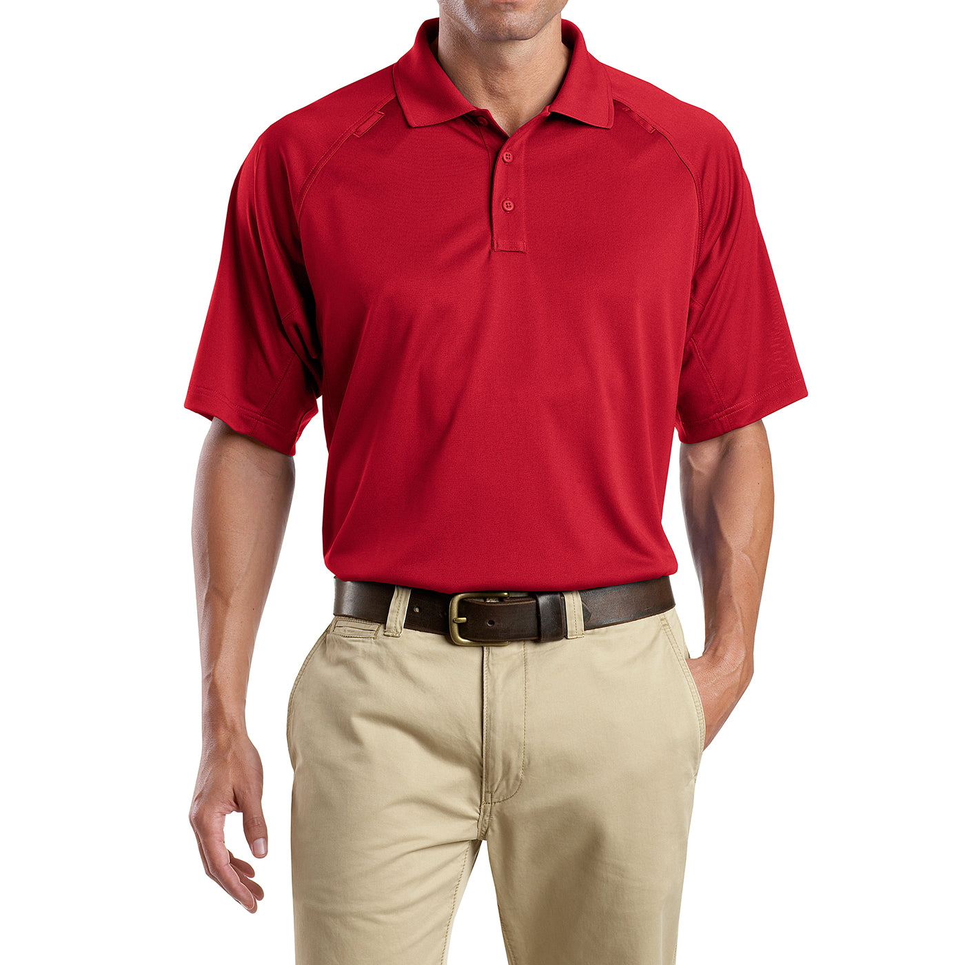 Men's Snag-Proof Tactical Polo Shirt - Red - Front