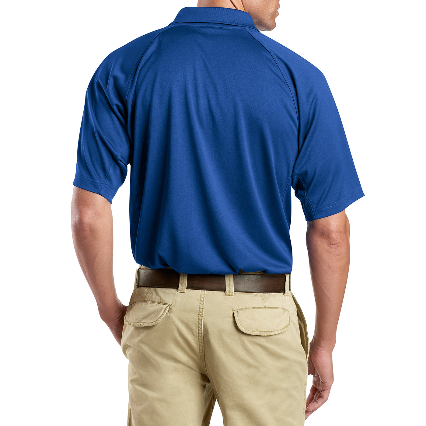 Men's Snag-Proof Tactical Polo Shirt - Royal - Back