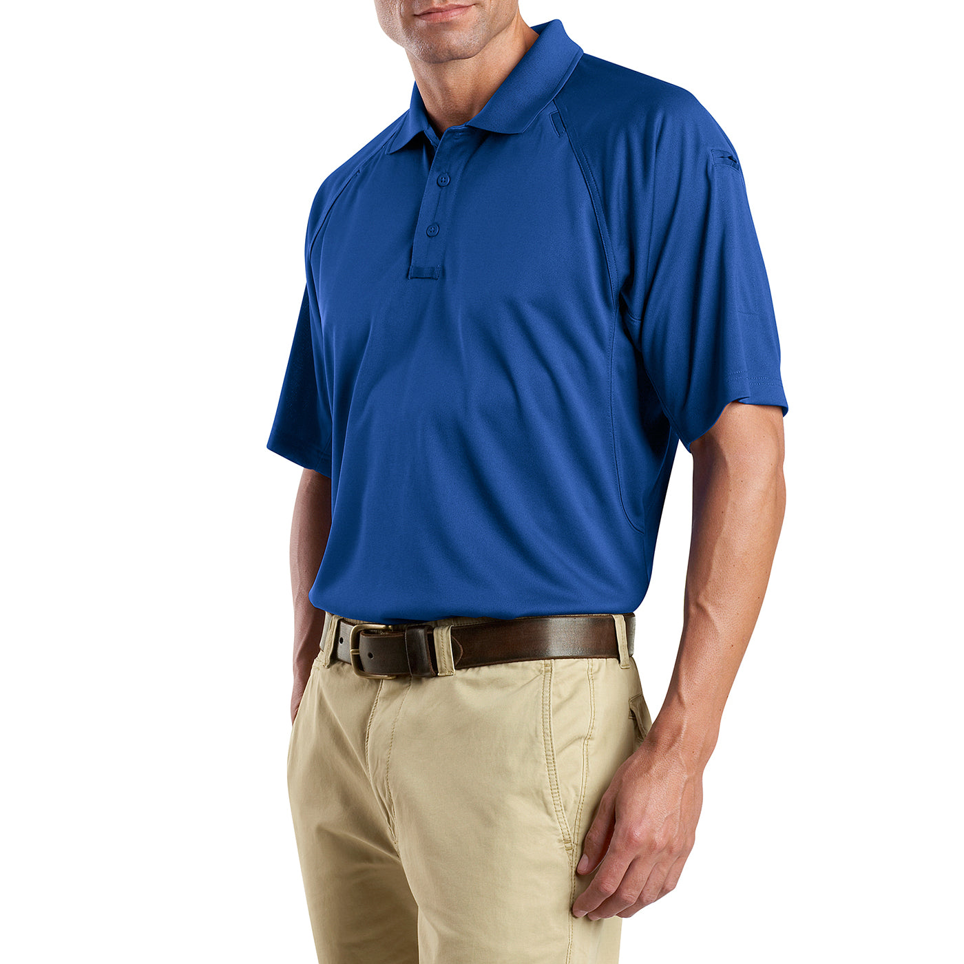 Men's Snag-Proof Tactical Polo Shirt - Royal - Side