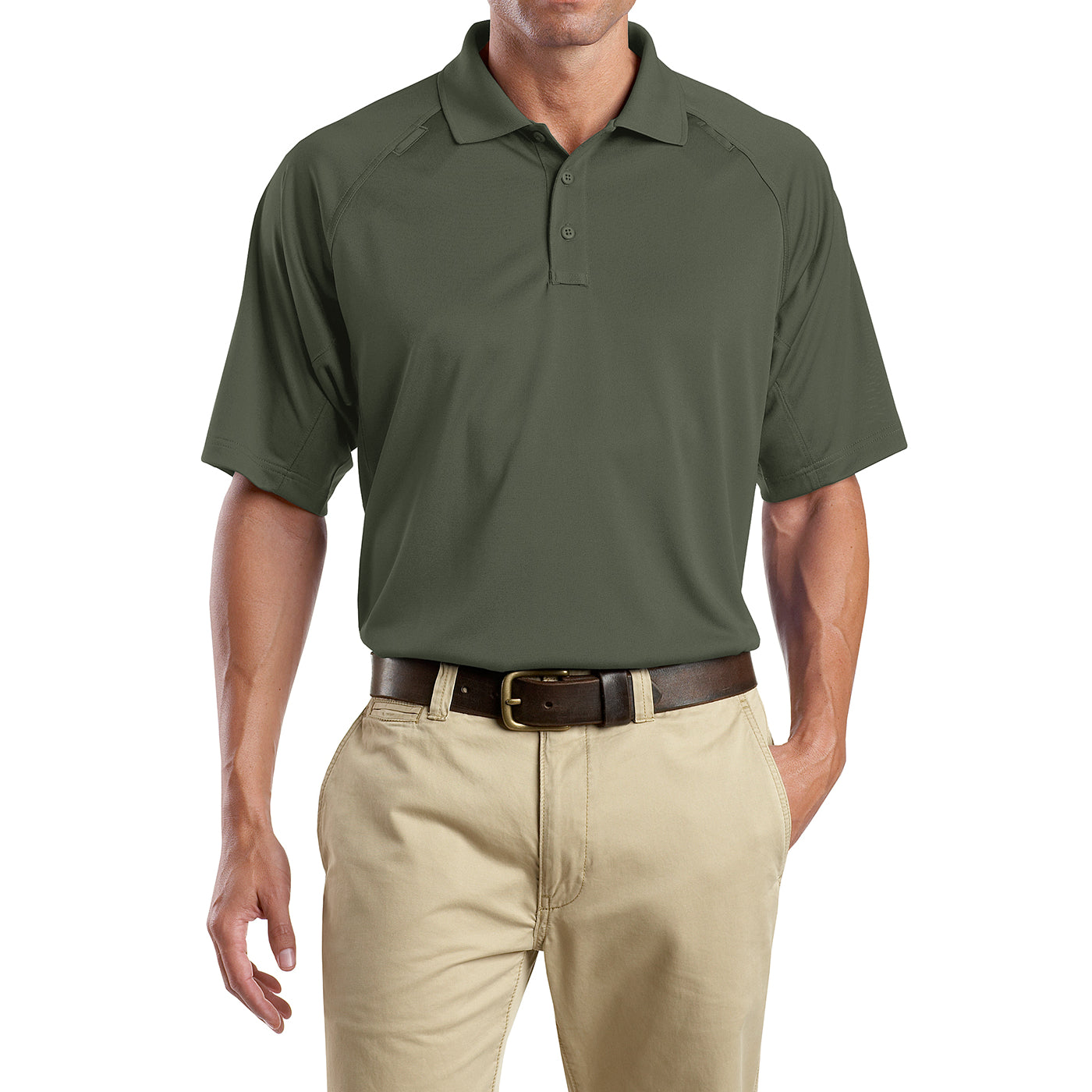 Men's Snag-Proof Tactical Polo Shirt - Tactical Green - Front