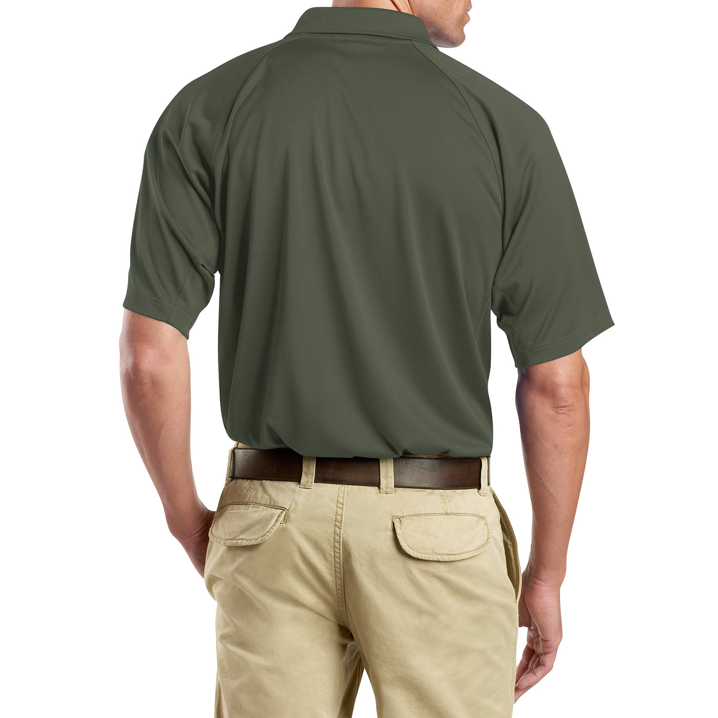 Men's Snag-Proof Tactical Polo Shirt - Tactical Green - Side
