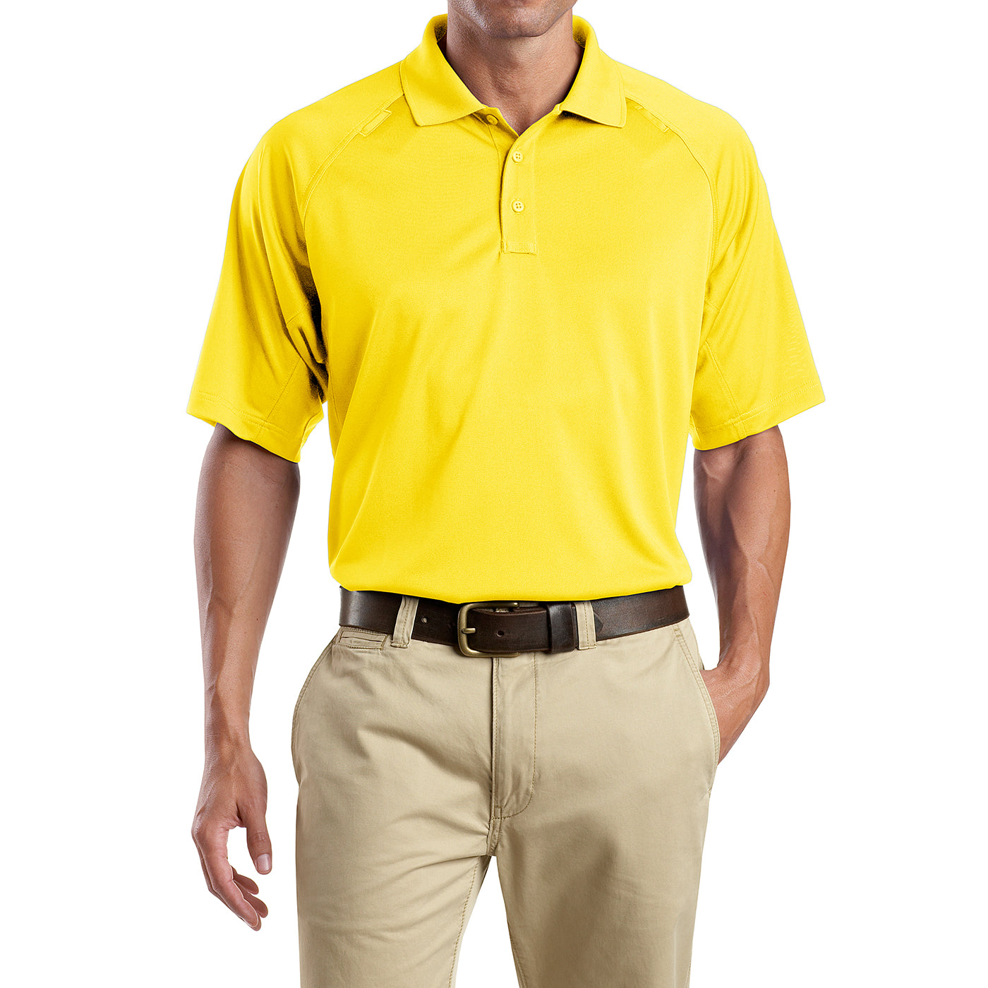Men's Snag-Proof Tactical Polo Shirt - Yellow - Front