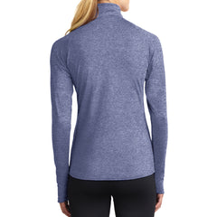 Women's Sport Wick Stretch 1/2 Zip Pullover - True Navy Heather - Back