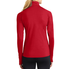 Women's Sport Wick Stretch 1/2 Zip Pullover - True Red - Back