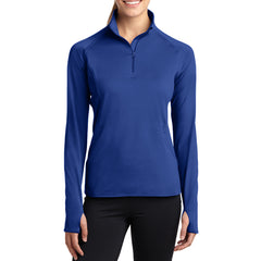 Women's Sport Wick Stretch 1/2 Zip Pullover - True Royal - Front