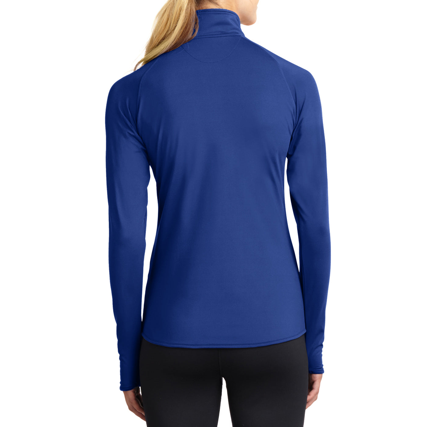 Women's Sport Wick Stretch 1/2 Zip Pullover - True Royal - Back